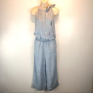 Cloth & Stone chambray polka dot jumpsuit sz S